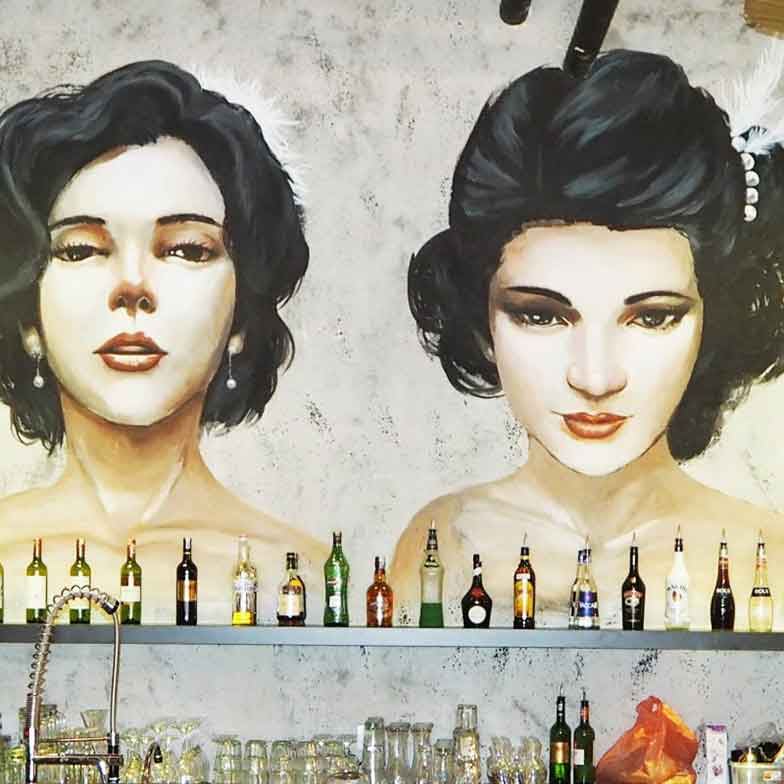 80's Old Shang Hai Style Mural-W Bar & Bistro @ Plaza Sentosa, Johor Bahru